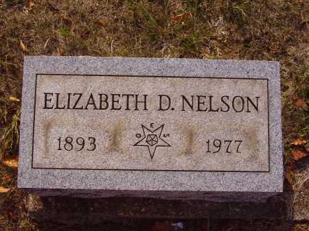 DAVIS NELSON, ELIZABETH D. - Meigs County, Ohio | ELIZABETH D. DAVIS NELSON - Ohio Gravestone Photos