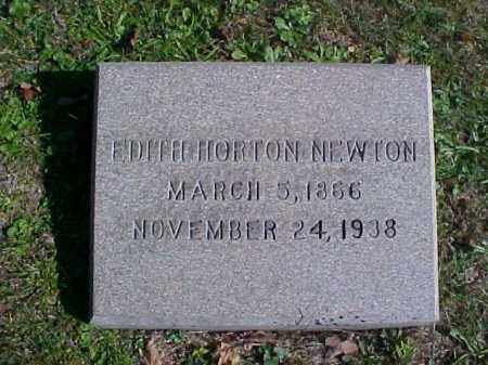 HORTON NEWTON, EDITH - Meigs County, Ohio | EDITH HORTON NEWTON - Ohio Gravestone Photos