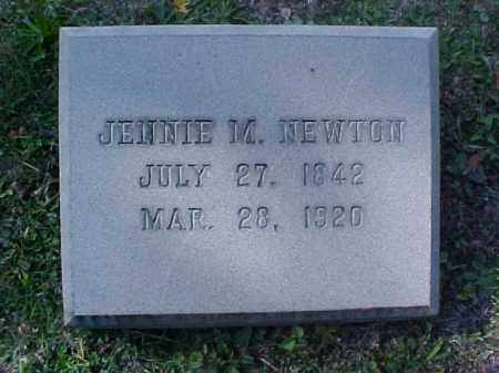 NEWTON, JENNIE M. - Meigs County, Ohio | JENNIE M. NEWTON - Ohio Gravestone Photos
