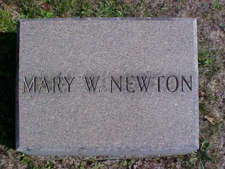 NEWTON, MARY W. - Meigs County, Ohio | MARY W. NEWTON - Ohio Gravestone Photos
