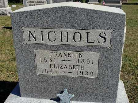 NICHOLS, ELIZABETH - Meigs County, Ohio | ELIZABETH NICHOLS - Ohio Gravestone Photos