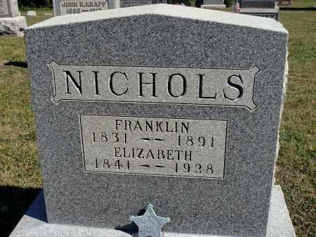 BACUS NICHOLS, ELIZABETH - Meigs County, Ohio | ELIZABETH BACUS NICHOLS - Ohio Gravestone Photos
