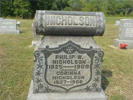 NICHOLSON, PHILLIP W. - Meigs County, Ohio | PHILLIP W. NICHOLSON - Ohio Gravestone Photos