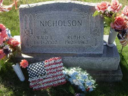 NICHOLSON, WAID LADELLE - Meigs County, Ohio | WAID LADELLE NICHOLSON - Ohio Gravestone Photos