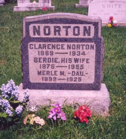 NORTON, BERDIE - Meigs County, Ohio | BERDIE NORTON - Ohio Gravestone Photos
