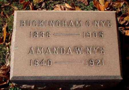 NYE, BUCKINGHAM C. - Meigs County, Ohio | BUCKINGHAM C. NYE - Ohio Gravestone Photos