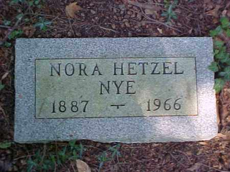 HETZEL NYE, NORA - Meigs County, Ohio | NORA HETZEL NYE - Ohio Gravestone Photos