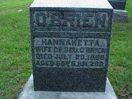 O'BRIEN, HANNAHETTA - Meigs County, Ohio | HANNAHETTA O'BRIEN - Ohio Gravestone Photos