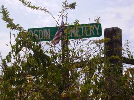 OGDIN, CEMETERY SIGN - Meigs County, Ohio | CEMETERY SIGN OGDIN - Ohio Gravestone Photos