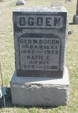 OGDEN, KATIE E. - Meigs County, Ohio | KATIE E. OGDEN - Ohio Gravestone Photos