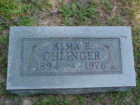 OHLINGER, ALMA E. - Meigs County, Ohio | ALMA E. OHLINGER - Ohio Gravestone Photos