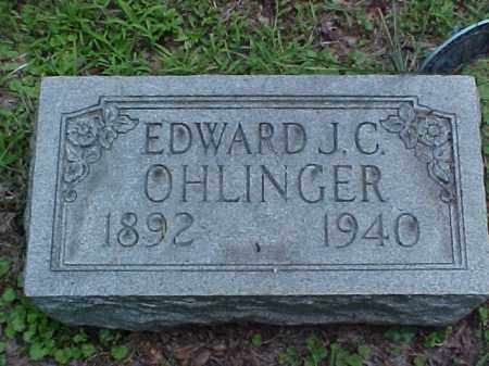 OHLINGER, EDWARD J.C. - Meigs County, Ohio | EDWARD J.C. OHLINGER - Ohio Gravestone Photos