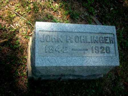 OHLINGER, JOHN P. - Meigs County, Ohio | JOHN P. OHLINGER - Ohio Gravestone Photos