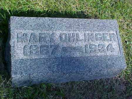 OHLINGER, MARY - Meigs County, Ohio | MARY OHLINGER - Ohio Gravestone Photos