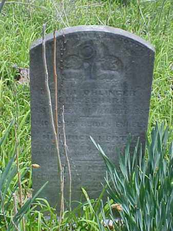 OHLINGER, PETER - Meigs County, Ohio | PETER OHLINGER - Ohio Gravestone Photos