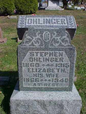OHLINGER, ELIZABETH - Meigs County, Ohio | ELIZABETH OHLINGER - Ohio Gravestone Photos