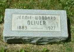 WOODARD OLIVER, JENNIE - Meigs County, Ohio | JENNIE WOODARD OLIVER - Ohio Gravestone Photos
