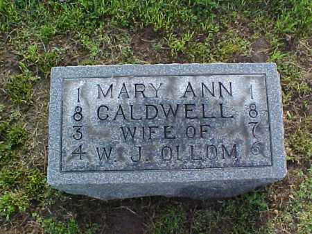 CALDWELL OLLOM, MARY ANN - Meigs County, Ohio | MARY ANN CALDWELL OLLOM - Ohio Gravestone Photos