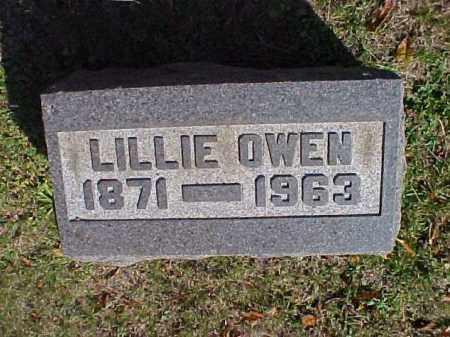 OWEN, LILLIE - Meigs County, Ohio | LILLIE OWEN - Ohio Gravestone Photos