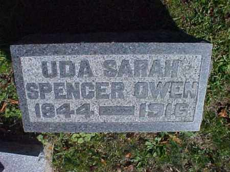 SPENCER OWEN, UDA SARAH - Meigs County, Ohio | UDA SARAH SPENCER OWEN - Ohio Gravestone Photos
