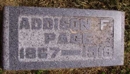PAGE, ADDISON - Meigs County, Ohio | ADDISON PAGE - Ohio Gravestone Photos