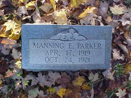 PARKER, MANNING E. - Meigs County, Ohio | MANNING E. PARKER - Ohio Gravestone Photos