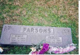 GRADY PARSONS, FLODA FRANCIS - Meigs County, Ohio | FLODA FRANCIS GRADY PARSONS - Ohio Gravestone Photos