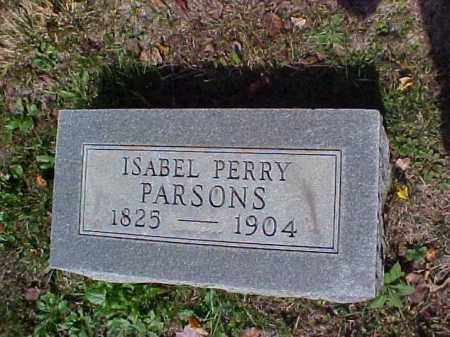 PERRY PARSONS, ISABEL - Meigs County, Ohio | ISABEL PERRY PARSONS - Ohio Gravestone Photos