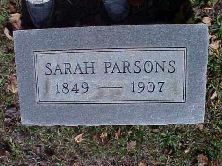 PARSONS, SARAH - Meigs County, Ohio | SARAH PARSONS - Ohio Gravestone Photos