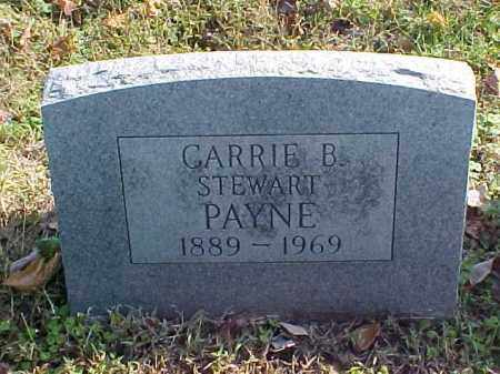 STEWART PAYNE, CARRIE B. - Meigs County, Ohio | CARRIE B. STEWART PAYNE - Ohio Gravestone Photos