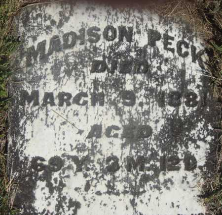 PECK, MADISON - CLOSE VIEW - Meigs County, Ohio | MADISON - CLOSE VIEW PECK - Ohio Gravestone Photos