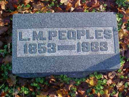 PEOPLES, L. M. - Meigs County, Ohio | L. M. PEOPLES - Ohio Gravestone Photos