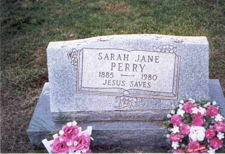 PERRY, SARAH JANE - Meigs County, Ohio | SARAH JANE PERRY - Ohio Gravestone Photos