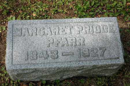 PRIODE PFARR, MARGARET - Meigs County, Ohio | MARGARET PRIODE PFARR - Ohio Gravestone Photos