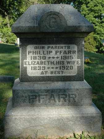 PFARR, PHILLIP - Meigs County, Ohio | PHILLIP PFARR - Ohio Gravestone Photos