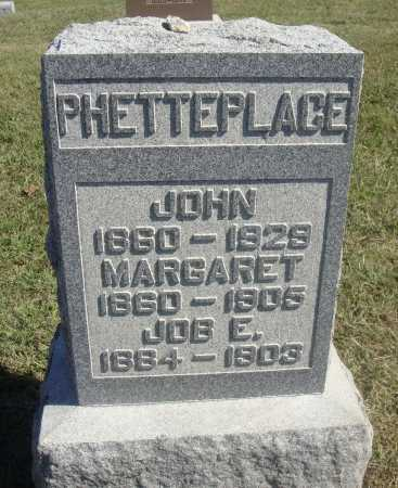 PHETTEPLACE, JOB EDWARD - Meigs County, Ohio | JOB EDWARD PHETTEPLACE - Ohio Gravestone Photos