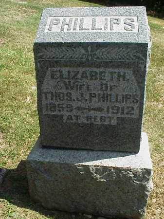 PHILLIPS, ELIZABETH - Meigs County, Ohio | ELIZABETH PHILLIPS - Ohio Gravestone Photos