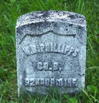 PHILLIPS, W. B. - Meigs County, Ohio | W. B. PHILLIPS - Ohio Gravestone Photos