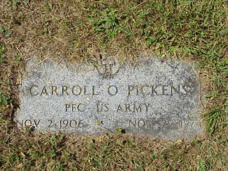 PICKENS, CARROLL O. -  MILITARY - Meigs County, Ohio | CARROLL O. -  MILITARY PICKENS - Ohio Gravestone Photos