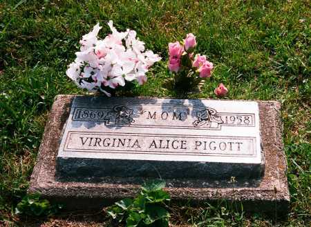 PIGOTT, VIRGINIA ALICE - Meigs County, Ohio | VIRGINIA ALICE PIGOTT - Ohio Gravestone Photos