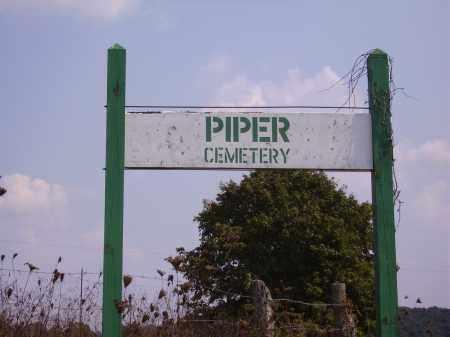 PIPER, CEMETERY SIGN - Meigs County, Ohio | CEMETERY SIGN PIPER - Ohio Gravestone Photos