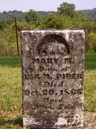 PIPER, MARY M. - Meigs County, Ohio | MARY M. PIPER - Ohio Gravestone Photos