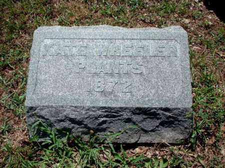 WHEELER PLANTS, KATE - Meigs County, Ohio | KATE WHEELER PLANTS - Ohio Gravestone Photos