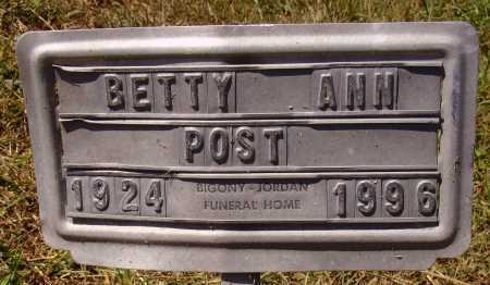 POST, BETTY ANN - Meigs County, Ohio | BETTY ANN POST - Ohio Gravestone Photos