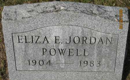 JORDAN POWELL, ELIZA E. - Meigs County, Ohio | ELIZA E. JORDAN POWELL - Ohio Gravestone Photos