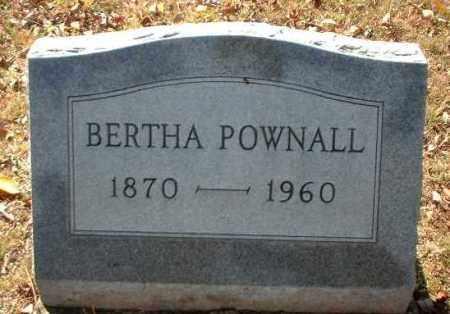 POWNALL, BERTHA - Meigs County, Ohio | BERTHA POWNALL - Ohio Gravestone Photos