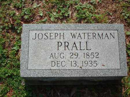 PRALL, JOSEPH WATERMAN - Meigs County, Ohio | JOSEPH WATERMAN PRALL - Ohio Gravestone Photos