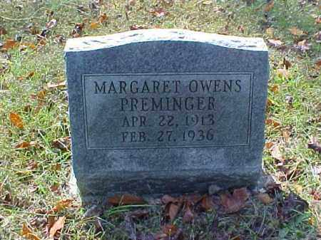 OWENS PREMINGER, MARGARET - Meigs County, Ohio | MARGARET OWENS PREMINGER - Ohio Gravestone Photos