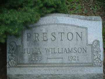 WILLIAMSON PRESTON, JULIA - Meigs County, Ohio | JULIA WILLIAMSON PRESTON - Ohio Gravestone Photos