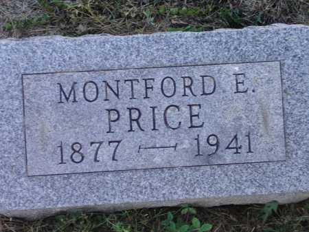 PRICE, MONTFORD E - Meigs County, Ohio | MONTFORD E PRICE - Ohio Gravestone Photos